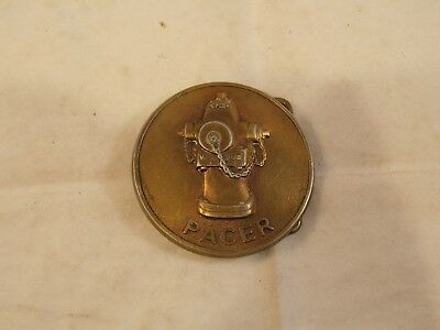 """Vtg Waterous Pacer Fire Hydrant Belt Buckle, 2 3/8"""" Diameter, Pre-Owned"""