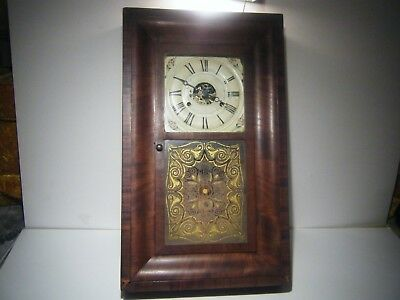 "Antique Seth Thomas Brass Clocks Plymouth Hollow, MA Wood Large 26"" X 15 1/2"""