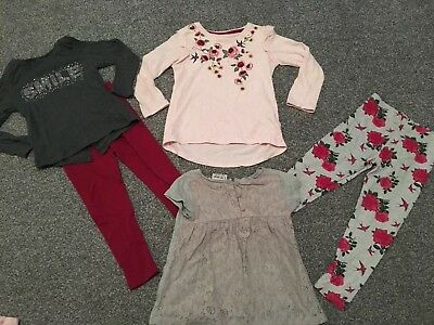 Girls 4-5 Years Clothes Bundle Incl Next New Without Tags Leggings + Tops