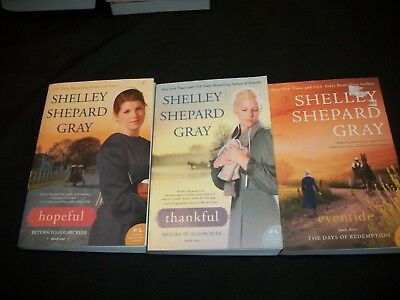 Lot of 3 Shelley Shepard Gray Books, Inspirational, Trade Paperbacks