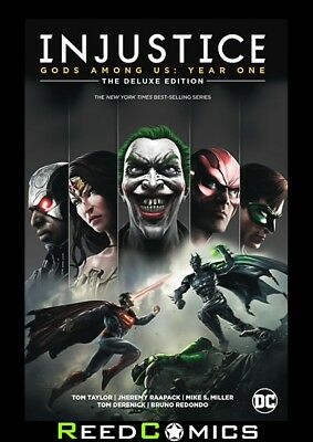 INJUSTICE GODS AMONG US YEAR ONE DELUXE EDITION HARDCOVER Collect #1-12 + Annual