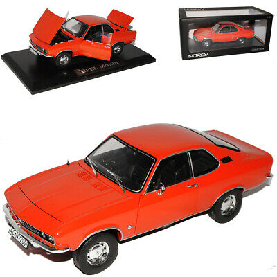 Opel Manta A Ziegel Rot Coupe 1970-1975 1/18 Norev Modell Auto mit oder ohne i..