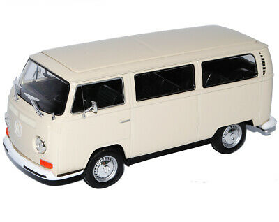 VW Volkswagen T2 Creme Weiss Bus Transporter 1967-1979 1/24 Welly Modell Auto ..