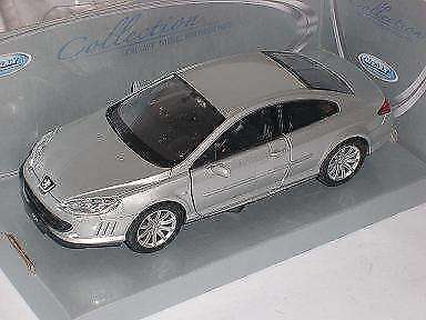 Peugeot 407 Coupe Silber 2004-2011 1/24 Welly Modell Auto mit oder ohne indivi..