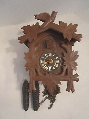 Vintage Regula Cuckoo Clock & Weights. Made In Germany. Sold As /is