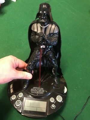 Star Wars Darth Vader 2011 Alarm Clock Radio With Sounds  Lights Up Saber