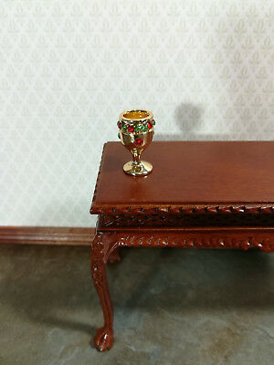 """Dollhouse Miniature Large """"Gold"""" Goblet Chalice with Jewels 1:12 or 1/6 Scale"""