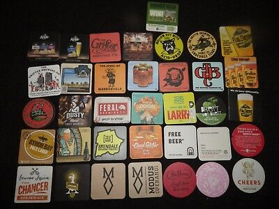 36 Recent Release Microbrewery Beer Coasters Mats