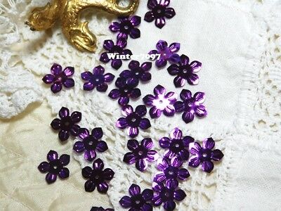 (155)*costume Makers Sellout*sequins*flowers*purple*new!*