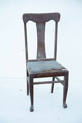 Queen Anne Style Dining Room Chair Barn Find Wood Wooden Antique Vintage