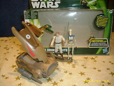 STAR WARS Hasbro MTT DROID FIGHTER Battle Droid&Obi-Wan Kenobi