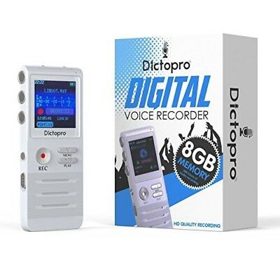MP3 Player/Digital Voice Activated Recorder Dictopro HD Microphone Recording 8GB