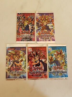 5 Yugioh EMPTY Packs - No Cards! 1st Edition Magician's Force & Labyrinth