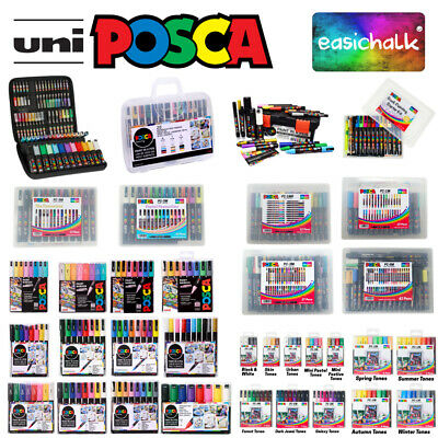 Posca Kits Cases and Packs, all options and sizes. Water based Paint Marker