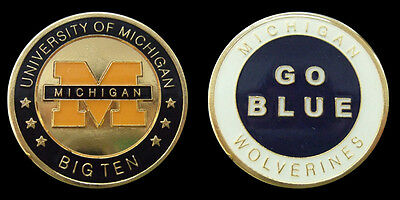 University Of Michigan Collegiate College Collectible Challenge Coin New