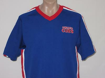 Chicago Cubs LARGE True Fan Vintage Retro MLB Baseball World Series Shirt Jersey
