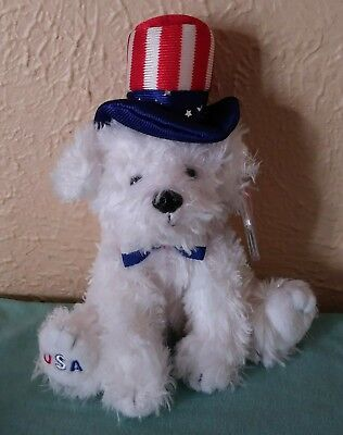 Ty Beanie Baby FIRST DOG- ty Internet Exclusive-2006-RETIRED-Independence Day