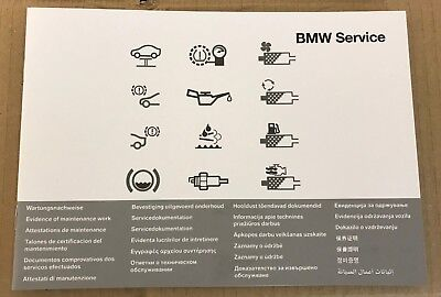 BMW SERVICE BOOK GENUINE NEW BLANK F20 / F21 – 1-Series – 2012 to Current