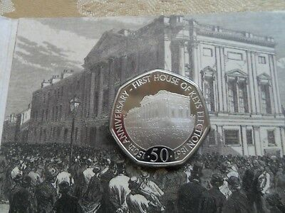 2017 IOM PROOF ERROR HOUSE OF KEYS 50P LIMITED EDITION TOWER MINT 823 of 1750