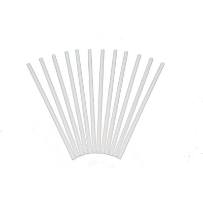 """Poly Dowels Plastic White Dowel Rods For Cake Tiers 12 Inch X 1/4"""" Pack Of 12"""