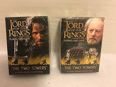 Lord Of The Rings: The Two Towers Trading Cards- Aragorn & Theoden *SEALED* 2002