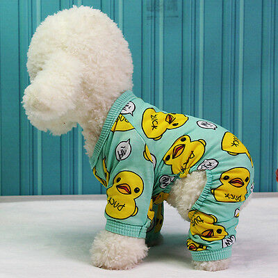 Dog Pajamas Cotton Dog Clothes Chihuahua Yorkie Puppy Clothing for Dog Jumpsuit~