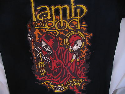 Lamb Of God Feb 24, 2007 Pray for Blood Concert T-Shirt Santa Cruz, CA Size S