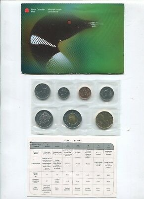 2000 Canada Uncirculated Coin Set 7 Coins Sealed in Original Packaging with COA