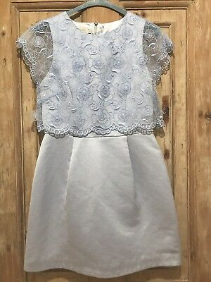 f227c868aac9c2 Ted Baker Dabria Floral Bodice Dress Powder Blue Ladies Size 2   Size 10
