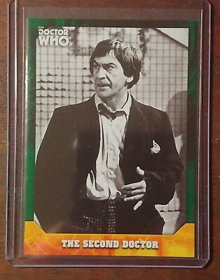 2017 Topps Doctor Who Signature Series Base Green #2, The Second Doctor, 11/50