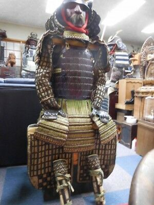 Late Edo period Black lacquer Armor Japanese Antique Free shipping from Japan