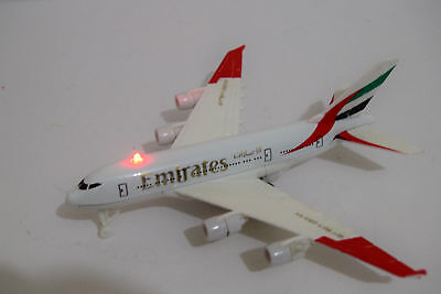 Official Diecast Emirates Plane Aircraft Aeroplane Collectable Model Sound+Light