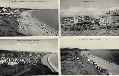 Budleigh Salterton  4 unused RP postcards published by E T W Dennis & Sons Ltd