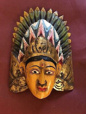 Hand Painted Tribal Mask, Thai Mask, Bali
