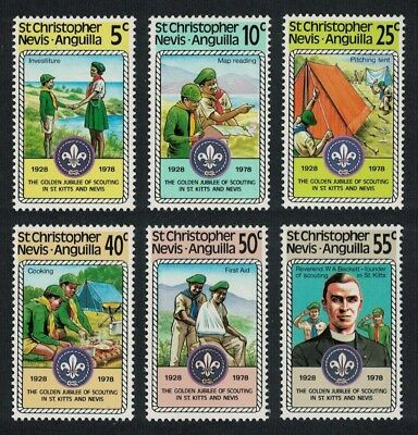 St. Kitts-Nevis 50th Anniversary of Boy Scout Movement on St Kitts and Nevis 6v