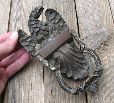Old Solid Brass Eagle Door Knocker