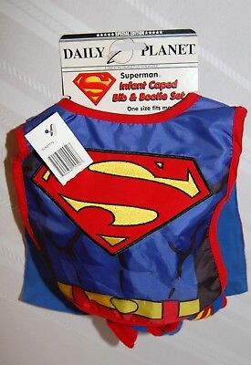 Superman Infant Caped Bib and Bootie Set