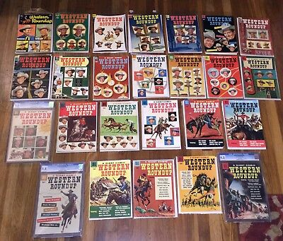 Western Roundup Comics, full set #1-25! 2,500 pages! Great gift! Free ship world