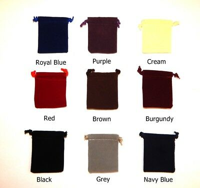Velveteen Drawstring Gift Pouches Bags Velvet Pouches Choose Color and Size
