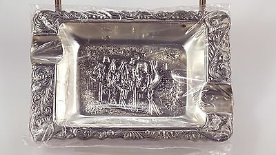 Jorgen Th. Steffensen Vintage Danish Silver plated Ashtray set of 4 with stand