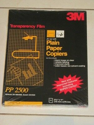 3M PP2500 Transparancy Film Plain Paper Copiers, 100 Sheets