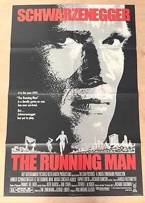 The Running Man 1987 Original 1 Sheet Movie Poster Arnold Schwarzenegger
