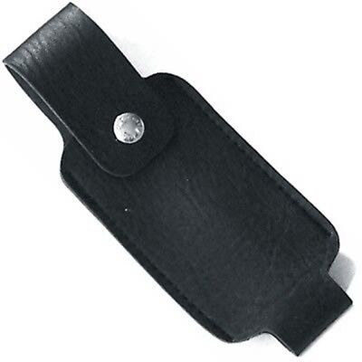 4 OZ PEPPER SPRAY BLACK LEATHER HOLSTER WITH BELT CLIP 4oz Ounce