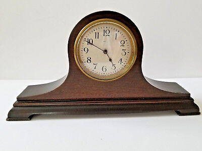 Antique New Haven Small Wood Mantel Clock