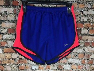 NIKE Dri-FIT Tempo Running Shorts Blue Neon Pink Jogging Swoosh Womans NEW XS