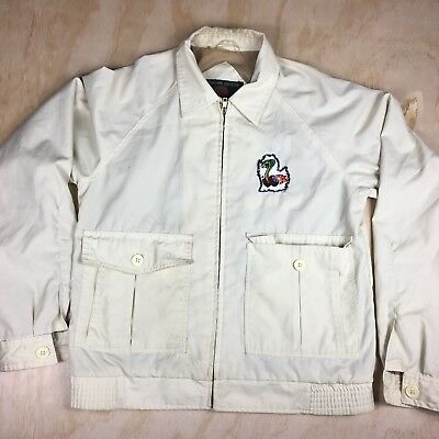 Vintage Ford Mustang Cobra Shelby Gt Jacket Size Small S Light Yellow Mens