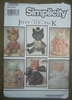 Simplicity Pattern #7205 Vintage Cats and Clothes  new/uncut