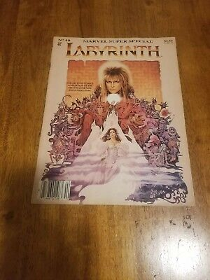 Marvel Super Special LABYRINTH No. 40 (1986) David Bowie