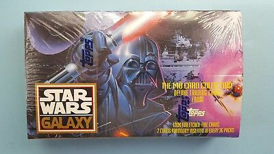 Star Wars Galaxy by Topps sealed box