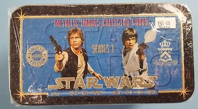 Star Wars Galaxy Metallic Images Collector Cards Limited Edition sealed tin box